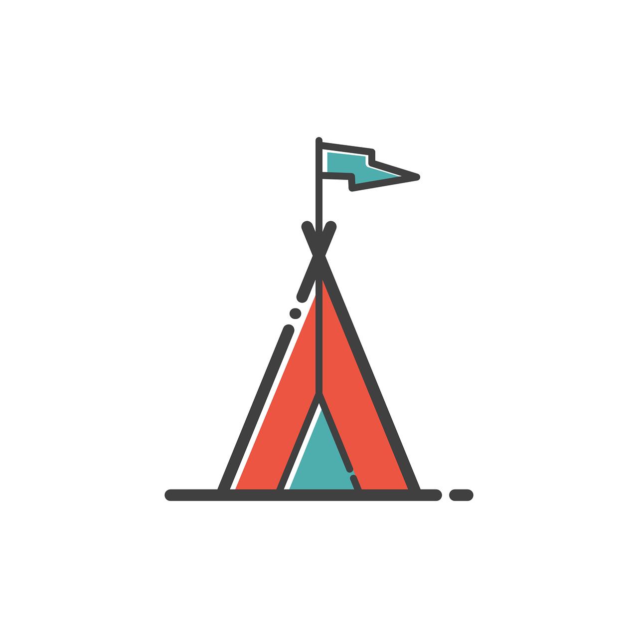 a frame tent